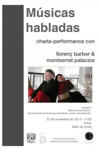 """""""Músicas habladas"""": de instrucciones, performance y poesíasonora"""