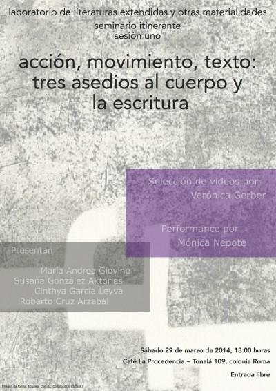 Seminario Itinerante: Acción, movimiento,texto