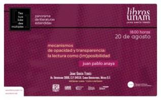 Mecanismos de opacidad y transparencia: la lectura como(im)posibilidad