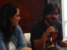 maría andrea giovine y juan pablo anaya en textualidades múltiples. foto-susana gonzález aktories