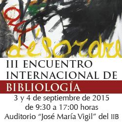 lleom en el III Encuentro Internacional deBibliología