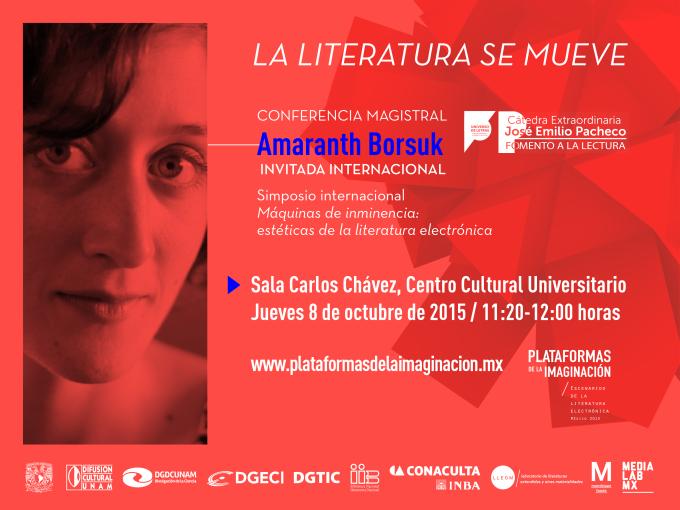 """Simposio internacional """"Máquinas de inminencia: estéticas de la literatura electrónica"""""""