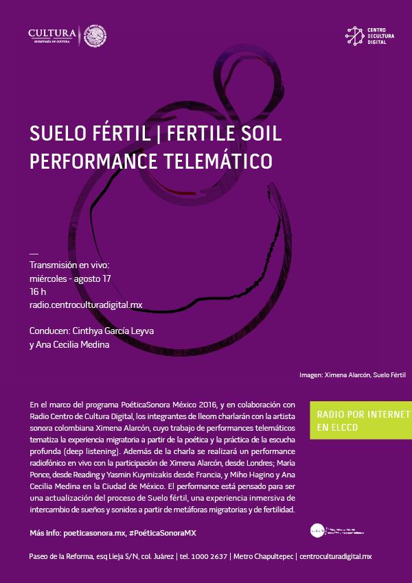 Suelo fértil / Fertile Soil: performancetelemático